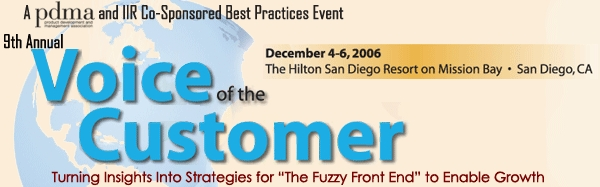 2006 Voice of the Customer conference brochure - PDF, 12 pages, 1.8 MB